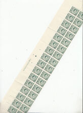 Stamps Australia 3d green QE2 coil perforation plate 3 left hand block of 32 MUH