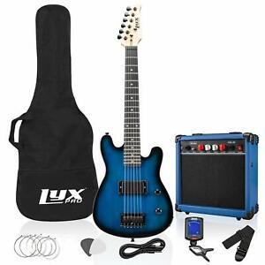LyxPro 30 Inch Electric Guitar Starter Kit Bundle for Kids