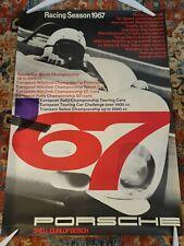 Vintage PORSCHE 1967 Racing Season Genuine Factory ORIGINAL Poster Championship