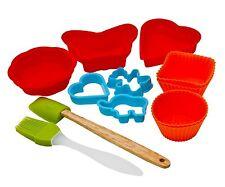 11 PZ per bambini in silicone cottura forno biscotti cake formatore Shaper Strumento Set Regalo di Natale