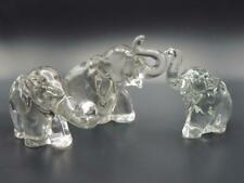 Heisey Glass Crystal ELEPHANTS SET of 3 - Large No. 1, Medium No. 2, Small No.3