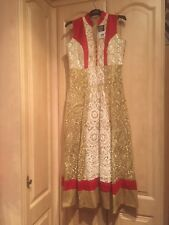 Brand New Red And Gold Anarkali Gown M-L
