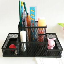 Cube Mesh Style Pen Pencil Ruler Holder Desk Stationery Storage Organizer Black