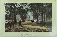 .SYDNEY , HYDE PARK 1910 POSTCARD ,  NEW SOUTH WALES