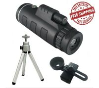 Starscope Monocular 40x60 Night Day Vision Zoom Scope Pocket with Phone Holder