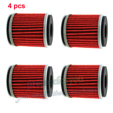 4Pc Oil Filter For Yamaha XG250 TRICKER XT250 WR250X WR450F YP125R X-MAX MBK 125