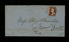 "#11 - 1852 Virginia ""CLARKSVILLE Va."" CDS in black to Blow & March, New York"