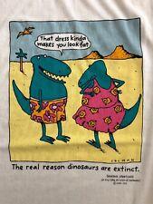 Vintage 80's 90's Shoebox Greetings Reason Dinosaurs Are Extinct T Shirt Lg Usa