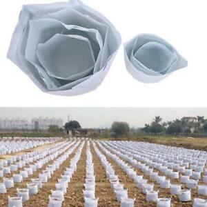 10 Packs Fabric Plant Pot Pouch Root Aeration Container Grow Bag 5,7,10,20Gallon