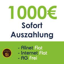 1000 EUR Bargeld-Auszahlung mit Handyvertrag   NUR 2x 36,99€*   AG Frei