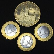 1 Euro Commemorative Coins & Prague Charles Bridge Coin. 4 Coins