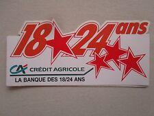 AUTOCOLLANT STICKER AUFKLEBER BANQUE BANK CREDIT AGRICOLE 18 24 ANS