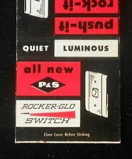 1950s All New P&S Rocker-Glo Switch Push Press Roll Pass & Seymour Syracuse NY
