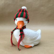 Vintage Collectible Duck Ceramic-Porcelain Hand Painted Candle Holder