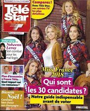 TELE STAR n°2150 16/12/2017  Miss France_Nolwenn Leroy_Julien Doré_C.Gainsbourg