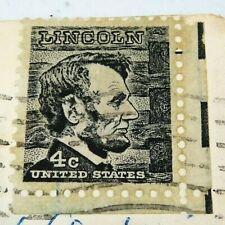 Prominent American Series Vintage Postage Abraham Lincoln 4 C Black 1965 Stamp