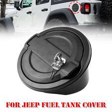 Black for 2007-2018 Jeep Wrangler JK 85007 Rampage Products Locking Fuel Door