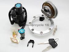 Ignition Switch 4 plug Seat Lock Fuel Cap Key Set For Honda CBR1000 VFR800 04-07