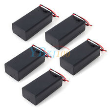5pcs 9V Volt Battery Holder Box Case DC with Wire Lead ON/OFF Switch Cover