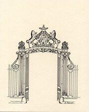 DRAVEIL - Carte postale neuve - Grille du château de Paris-Jardins + A. LAPOINTE