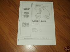 SEARS-GAMEFISHER MERCURY/FORCE~OWNERS  PARTS  MANUAL 9.9 HP model-225.581996