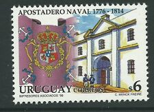 Uruguay 1998 - Architecture Building Naval Station Military War - Sc 1708 MNH