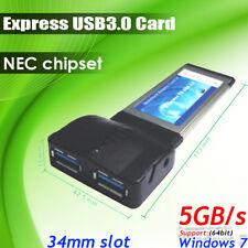 Laptop Notebook 34mm 54mm Express USB3.0 5GB/s NEC chip Card adapter Converter
