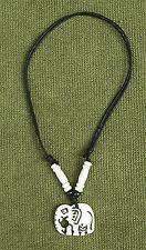 Elephant Hand Made White Buffalo Bone Necklace