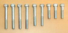 Cylinder Head Bolt Set, BSA A7, A10, Iron Head, 00-0122, 9 Piece, Zinc Plated