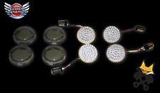 CUSTOM DYNAMICS RINGZ™ COMPLETE LED TURN SIGNAL KIT HARLEY 11-17 FX FL AMBER/RED