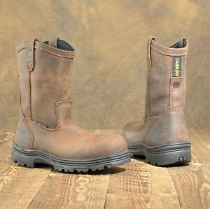 Mens Carolina Waterproof Comp Toe Ranch 10 In Wellington Work Boot CA2533 8 2E