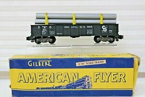 American Flyer by Gilbert 911 Pipe Car and box reload