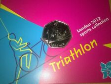 New listing Triathlon Olympic 50p Uncirculated/Royal Mint carded BU(see description)
