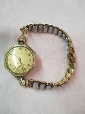 Elgin Ladies Wrist pocket watch style 10/0 gold plated 15 Jewels Wadsworth Pilot