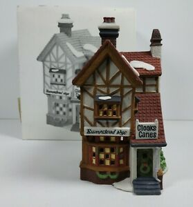 Department 56 Dickens Village Series Bumpstead Nye Cloaks & Canes #56.58084 1993