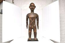 "Art African Ethnographic Powerful Maternity Dan Bassa Statue Figure Carved 30"""