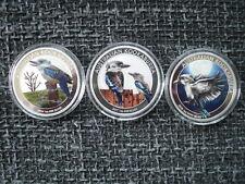 3 x 1 Oz Silber Kookaburra Coloriert 2016 - 2018  Münzen in Originalkapsel