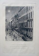 Copperplate Engraving - Great Boston Fire