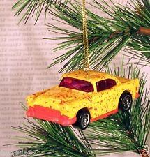 1955 CHEVY '55 CHRISTMAS ORNAMENT Yellow/Red rare XMAS