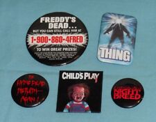 HORROR MOVIE PROMO PINBACK BUTTON LOT Child's Play The Thing Night Breed Freddy
