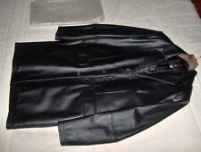 Nuovo giaccone lungo nero uomo pelle taglia 50