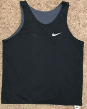 Vintage Nike Basketball Jersey Reversible Made In USA Gray And Black Size XL