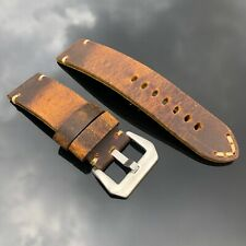 Aftermarket Panerai Luminor Radiomir PAM watches 24mm brown Leather strap band