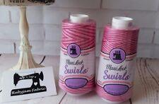 RASPBERRY VANILLA Maxilock Swirls Decorative Overlocker Thread, variegated swirl