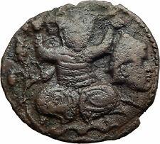 ISLAMIC Ancient ARTUQUIDS of MARDIN Medieval 1199AD Coin TURK holds HEAD i74611