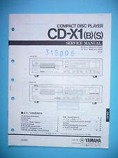 instrucciones Manual de servicio para Yamaha CD-X1,ORIGINAL