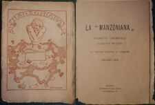 EDIZIONI POCO COMUNI/MANZONI: ANONIMO, LA MANZONIANA.