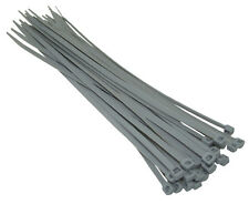 100, SILVER GREY 2.5mm WIDE x 100mm LENGTH - HEAVY DUTY NYLON CABLE ZIP TIES