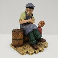 Carving Boat For Boy - Beachcombers Inc 1999 - Oldsalts Collection Figure Statue