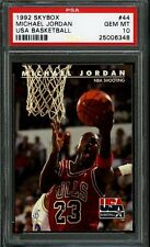 1992 SKYBOX USA BASKETBALL #44 MICHAEL JORDAN BULLS HOF PSA 10 POP 2